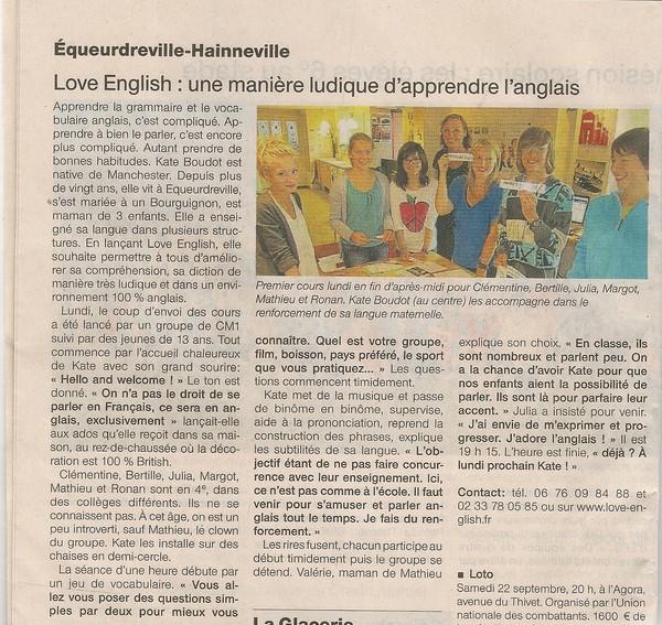 Article dans le journal ouest france - Ouest france le journal gratuit ...