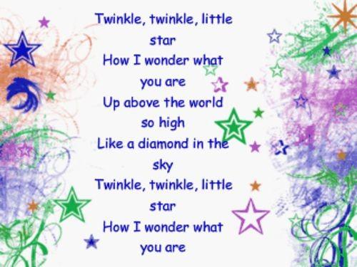 """""""twinkle twinkle little star how i"""